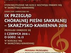 Przeglad Sakralnej Piesni Choralnej 2016 - plakat